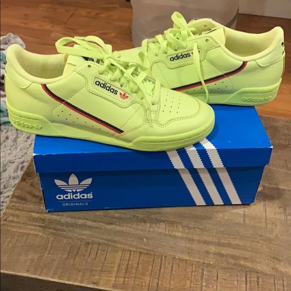 Continental 80 adidas sneakers neon color